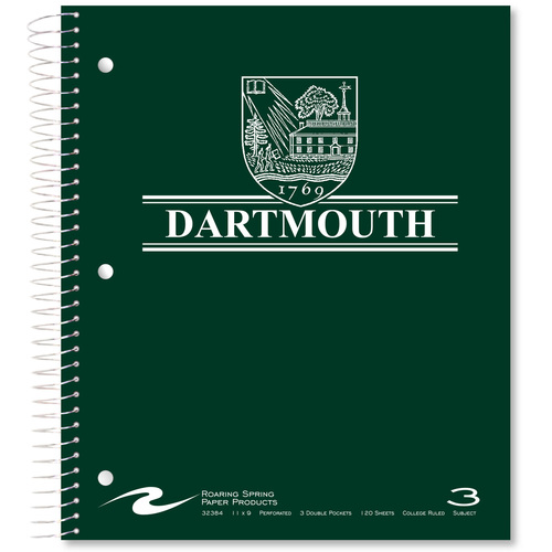 3-Subject Dartmouth Notebook