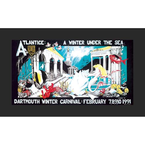 Framed 1991 Winter Carnival Poster