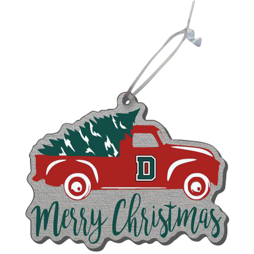 Acrylic Truck Merry Christmas Ornament Dartmouth