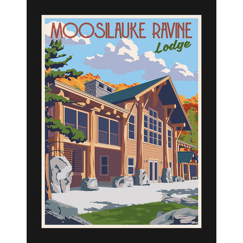 Framed Ravine Lodge Moosilauke Poster