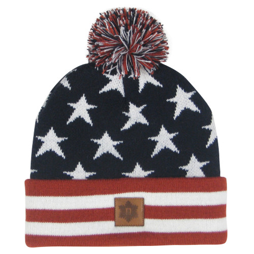 Multi Star Cuff Knit Beanie