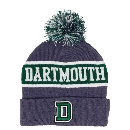 Grey Knit Dartmouth Hat