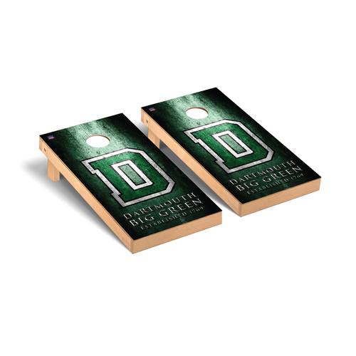 Museum Big Green Cornhole Boards Game Set Dartmouth