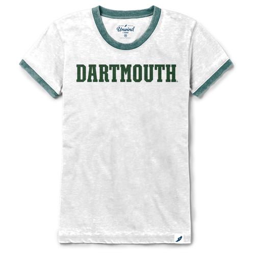 Women's Burnout Dartmouth Ringer Tee