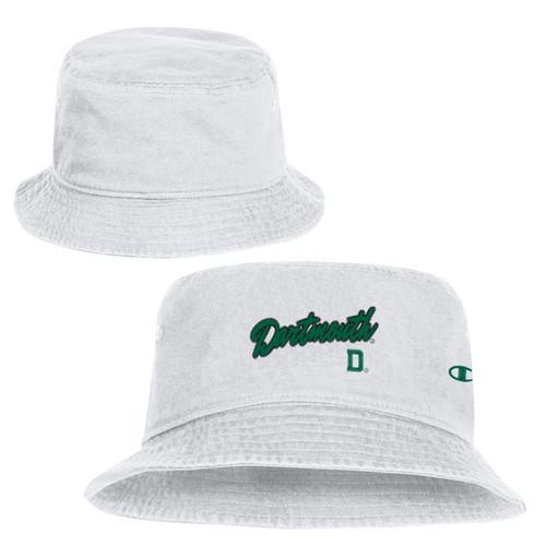 CHAMPION White Bucket Hat Dartmouth D