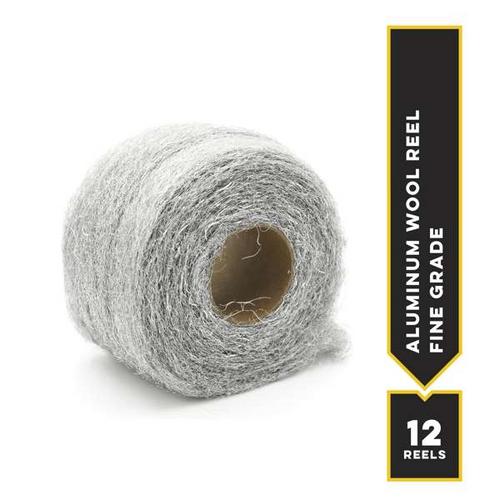 Fine Aluminum Wool, 1-lb reel, 12 reels/cs