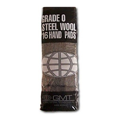 #1 Steel Wool Hand Pads Case of 6 16 pads//bag