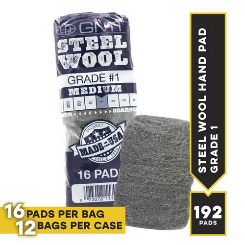#1 16 Pad Poli, 16 steel wool pads/bag, 12 bags/cs