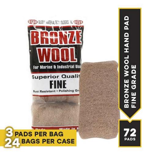 Fine Bronze Hand Pads, 3 pads per bag, 24 bags per case