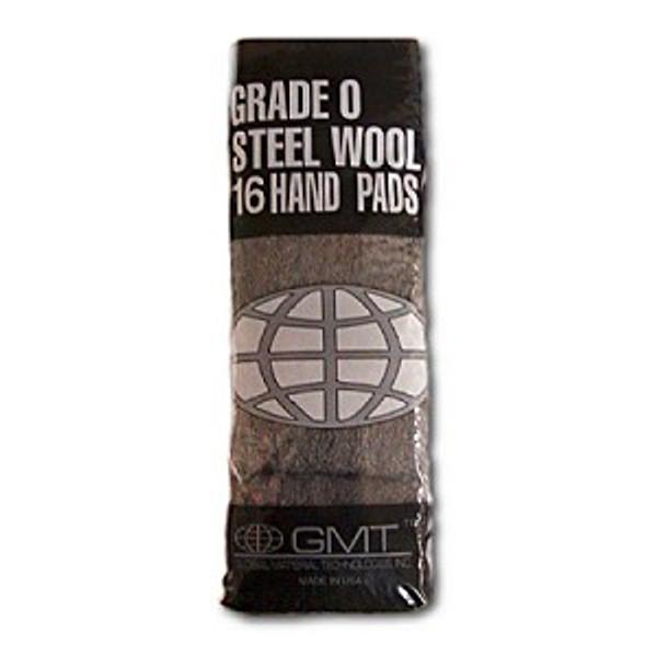 #0 16 Pad Poli, 16 steel wool pads/bag, 12 bags/cs