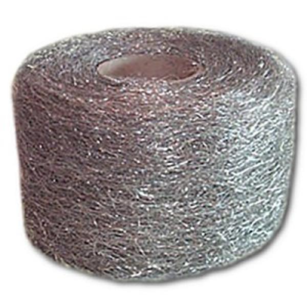Medium #316 Stainless Steel Wool, 1-lb reel, 12 reels/cs