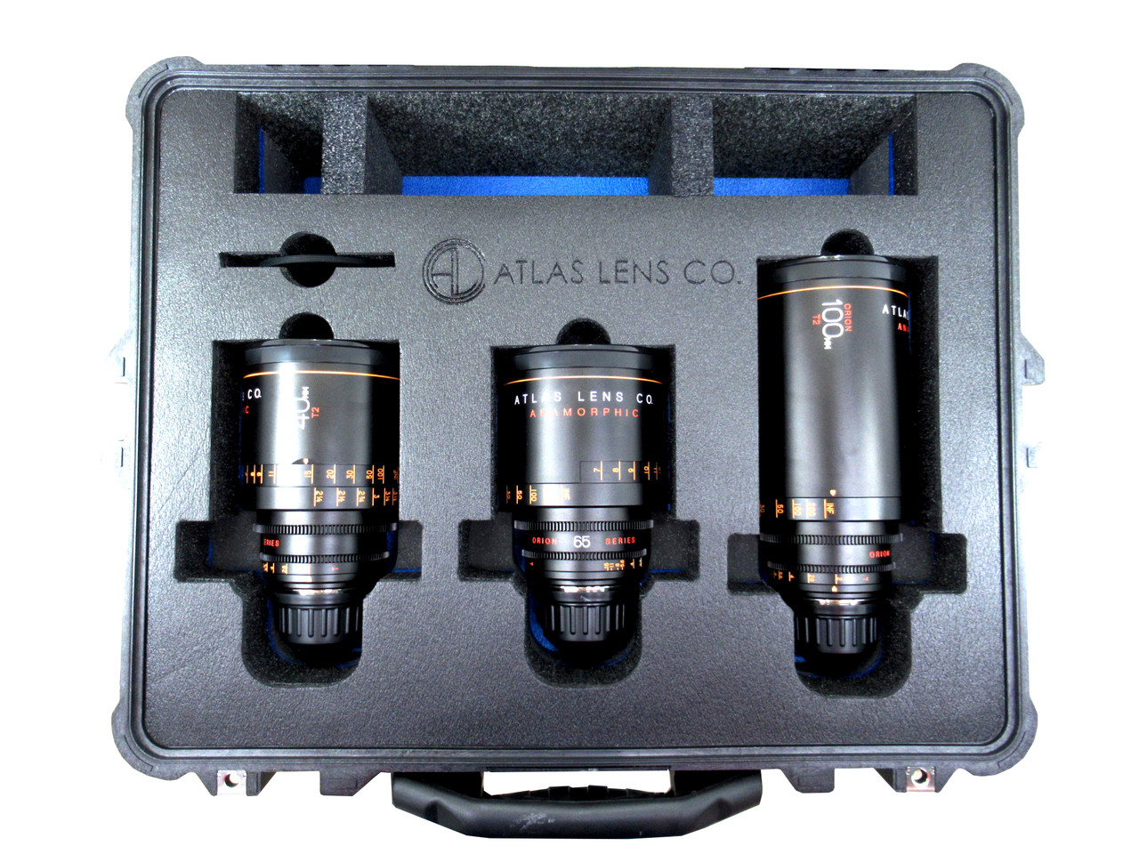 Atlas Orion Anamorphic Primes. 40mm, 65mm, and 100mm (Pelican  Solution)