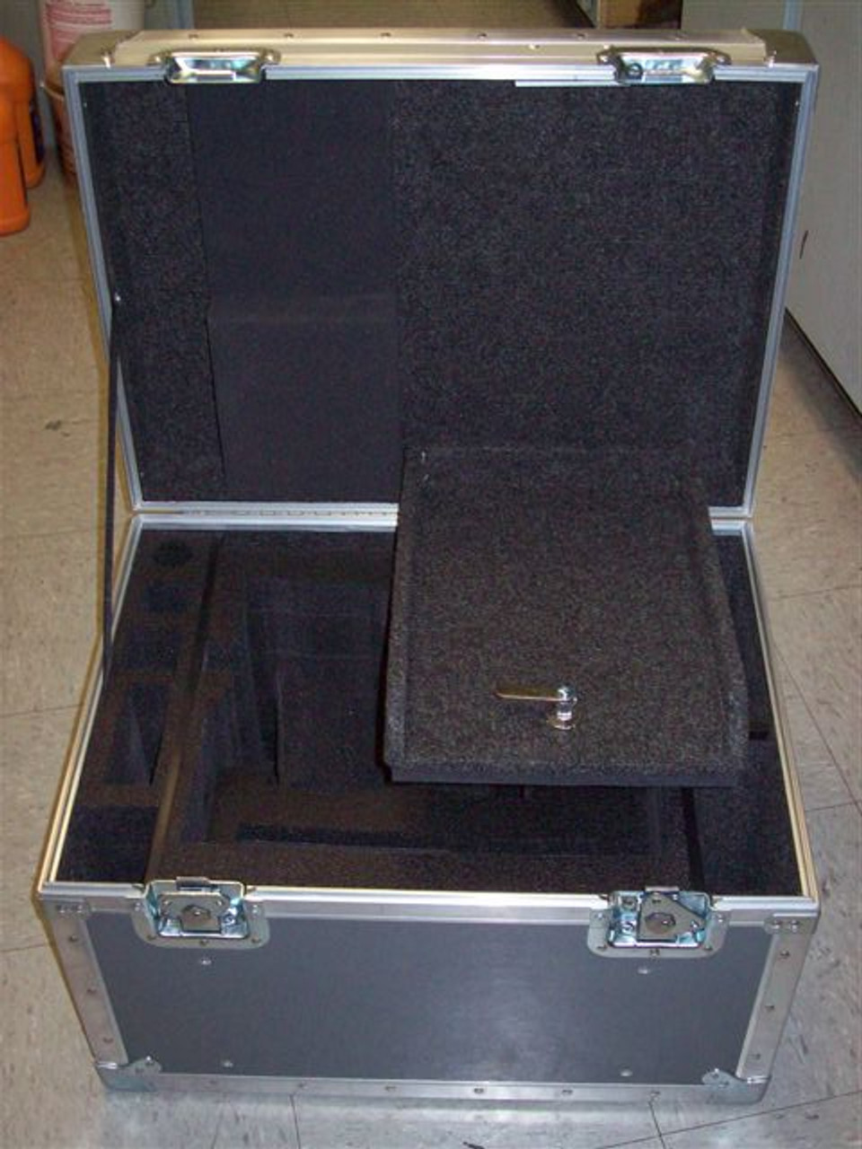 Alexa Camera ATA Shipping Case - Interior View Drop Lid