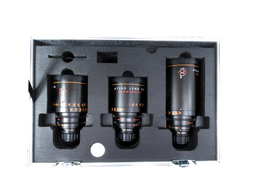 Atlas Orion Anamorphic Primes. 40mm, 65, and 100