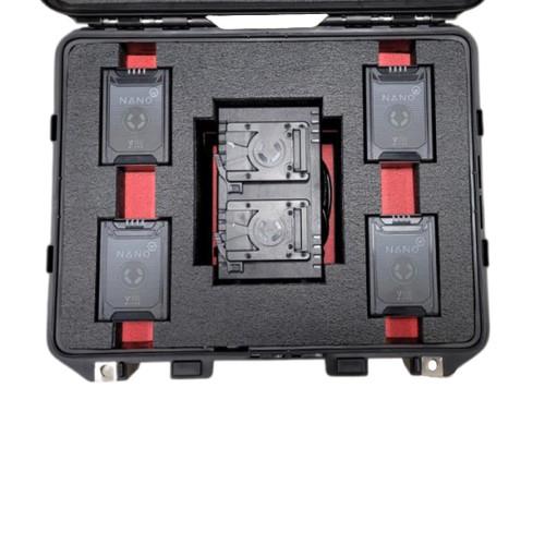 Core SWX X4 Charger V Mount and 4 Core SWX Nano 98 Miro Batteries Case