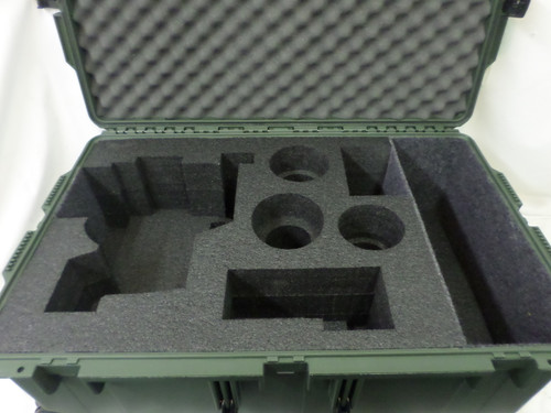 Camera: Sony SF 7 Camera package. Space for Sony FS7 Camera, eyepiece, battieries, canon lenses and AKS compartment. Insert designed in storm im 2950.