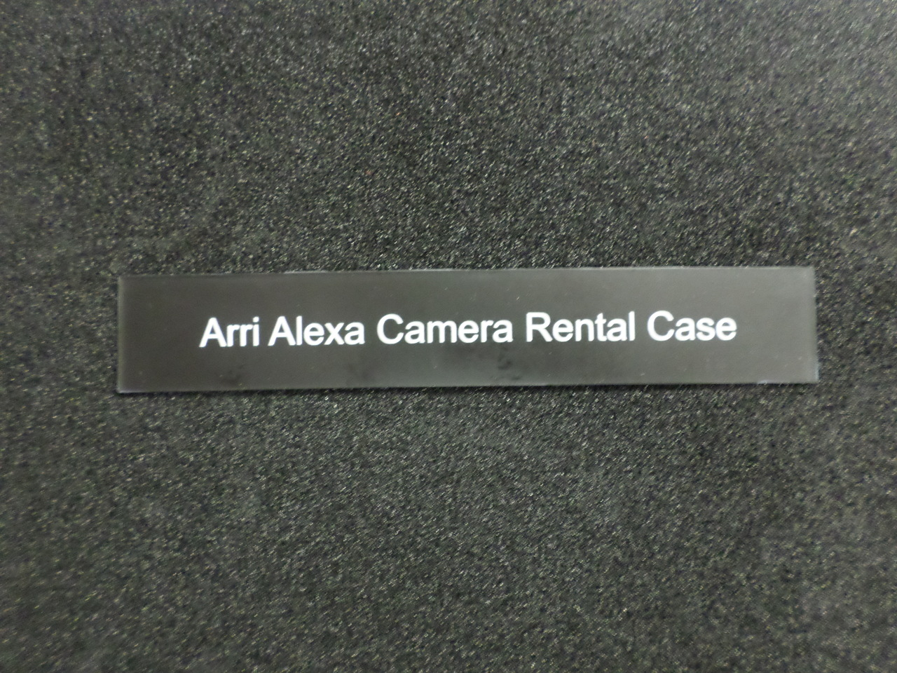 """Small Equipment Engraved Plate 6"""" x 1"""""""