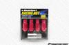 WEDS 7075 Forged Aluminum Lug Nuts Lock Set - Red