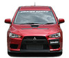 Charge Speed Bottom Line Type-1 Front Lip: Carbon - Mitsubishi EVO 10