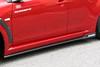 Charge Speed Bottom Line Type-2 Side Skirts: Carbon - Mitsubishi EVO 10