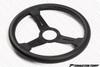 Nardi Classic Black Leather Black Spokes w/ Grey Stitch 330mm