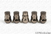 MUTEKI SR35 Closed Ended Lug Nut w/ Lock Set - Titanium Chrome