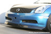 APR Carbon Fiber Infiniti G35 Coupe Front Air Dam Lip