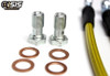 ISR Performance Stainless Steel Brake Lines - Front 240SX S13/S14 OE