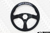 KEY'S RACING Flat Type Steering Wheel (350mm/Leather)