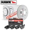 Hawk Rear Brake Rotor with HPS 5.0 Pad Kit - 86-91 Mazda RX-7