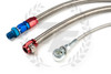 P2M Nissan S13 SR20DET Steel Braided Turbo Line Kit - Top Mount