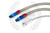 P2M Nissan S14 / S15 SR20DET Steel Braided Turbo Line Kit - Bottom Mount