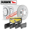 Hawk Performance Rear Brake Rotor with PC Pad Kit - 06-13 Lexus IS250
