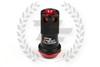 KICS Project R40 Iconix Lug Nuts - Black & Red - Aluminum Cap