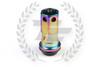 KICS Project R40 Iconix Lug Nuts - NeoChrome & Black - Aluminum Cap