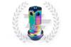 KICS Project R40 Iconix Lug Nuts - NeoChrome & Blue - Aluminum Cap