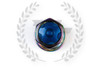 KICS Project R40 Iconix Lug Nuts - NeoChrome & Blue - Aluminum Cap
