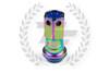 KICS Project R40 Iconix Lug Nuts - NeoChrome & Blue - Plastic Cap