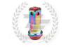 KICS Project R40 Iconix Lug Nuts - NeoChrome & Red - Aluminum Cap