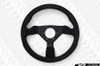 Personal Grinta Steering Wheel 330mm Black Suede with Yellow Stitching