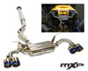 MXP Performance Quad Tip Cat Back Exhaust - FR-S & BRZ w/ TRD Rear Bumper