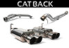 Perrin Quad Tip Non-Resonated Brushed Cat Back Exhaust - 11-16 Subaru WRX / STI