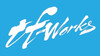 "TF-Works ""Splash"" Small Sticker - White"