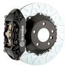 Brembo GT Series Black Type 3 Slotted 2-Piece Rotor Rear Big Brake Kit - 15-17 Ford Mustang GT