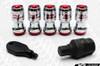 Volk Racing Formula Lug Nut Set Locking Red