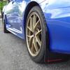 Rally Armor Black UR Mudflaps Urethane Silver Logo - 15-16 Subaru Impreza WRX STI / WRX