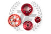 TF Lightweight Aluminum Pulley Kit Mazda RX7 FD3S 13B - RED