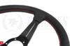 Nardi Sport Rally Deep Corn Perforated Leather / Black Spoke  350mm Steering Wheel