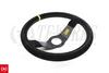 OMP 2 Spoke Rally 350mm Dished Steering Wheel