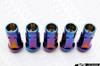 MUTEKI SR48 Open Ended Racing Lug Nut Burnt Neon Blue